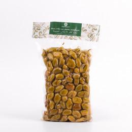 Olives vertes aux plantes aromatiques sous vide