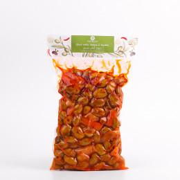 Olives vertes Harissa & Légumes sous vide