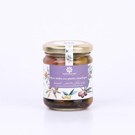 Olives mixtes aux plantes aromatiques